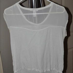 Size S white short sleeve